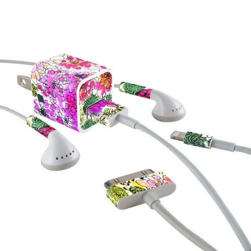 Fiore iPhone Earphone, Power Adapter, Cable Skin