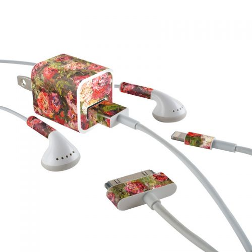 Fleurs Sauvages iPhone Earphone, Power Adapter, Cable Skin