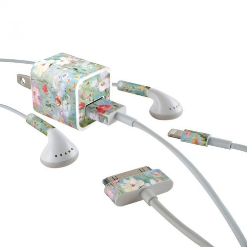 Flower Blooms iPhone Earphone, Power Adapter, Cable Skin