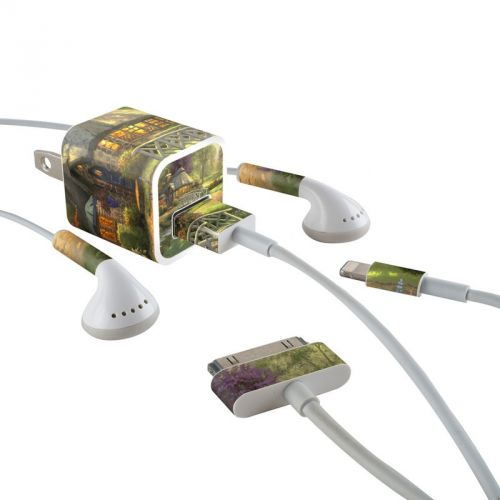 Friendship Cottage iPhone Earphone, Power Adapter, Cable Skin