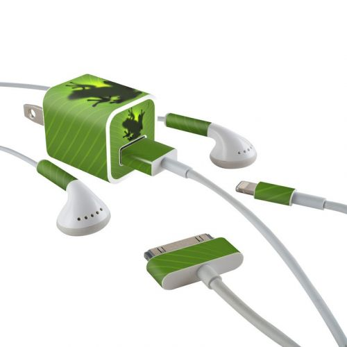 Frog iPhone Earphone, Power Adapter, Cable Skin