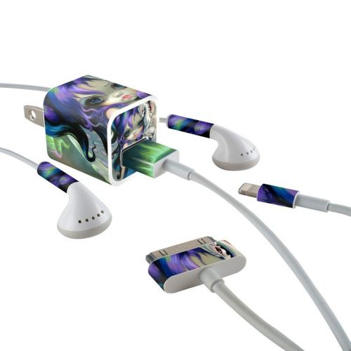 Frost Dragonling iPhone Earphone, Power Adapter, Cable Skin
