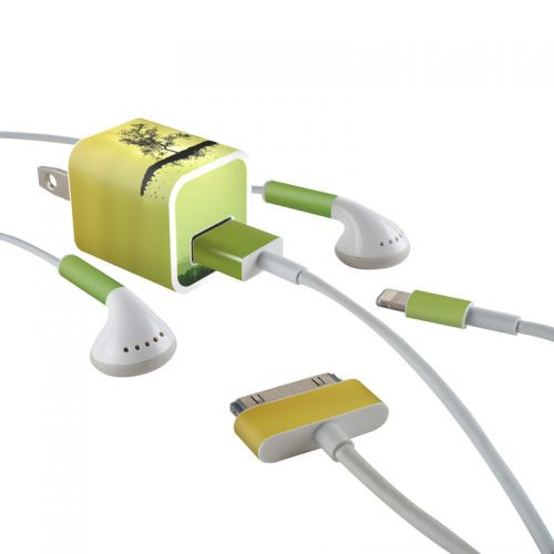 Flying Tree Amber iPhone Earphone, Power Adapter, Cable Skin