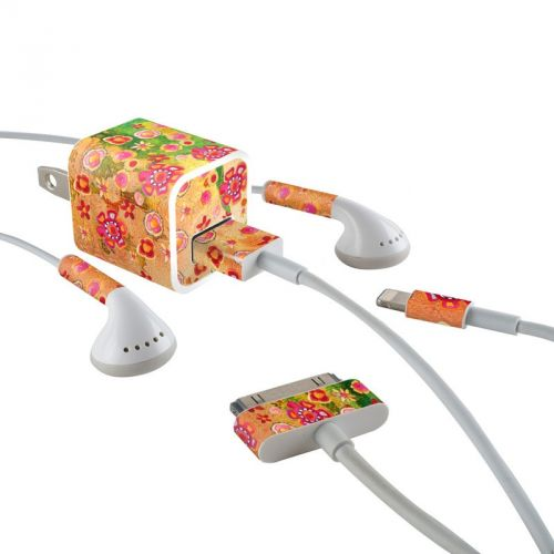 Garden Flowers iPhone Earphone, Power Adapter, Cable Skin