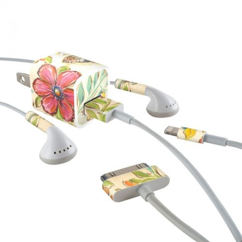 Garden Scroll iPhone Earphone, Power Adapter, Cable Skin