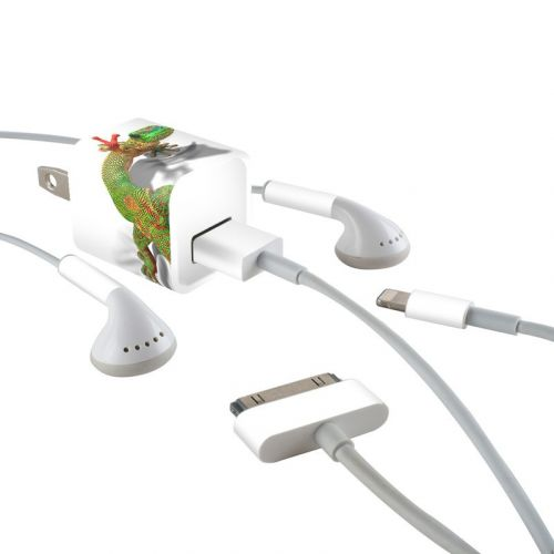 Gecko iPhone Earphone, Power Adapter, Cable Skin