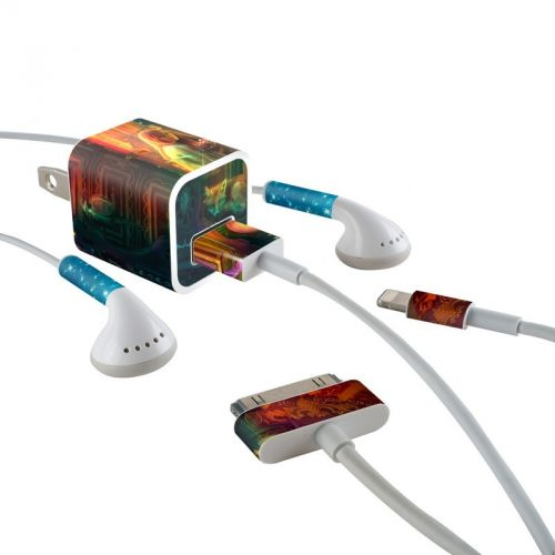 Gypsy Firefly iPhone Earphone, Power Adapter, Cable Skin