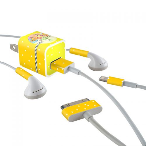 Giving iPhone Earphone, Power Adapter, Cable Skin