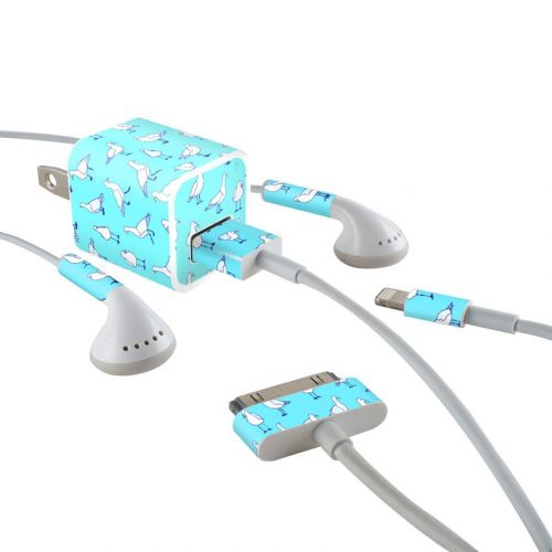 Gulls Away iPhone Earphone, Power Adapter, Cable Skin