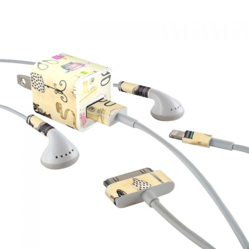 Haberdashery iPhone Earphone, Power Adapter, Cable Skin