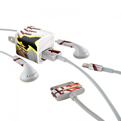 Home Run iPhone Earphone, Power Adapter, Cable Skin