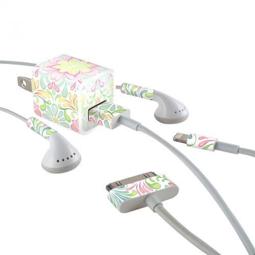 Honeysuckle iPhone Earphone, Power Adapter, Cable Skin