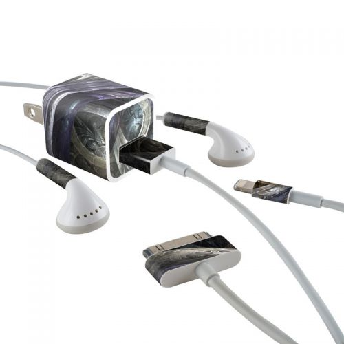 Infinity iPhone Earphone, Power Adapter, Cable Skin