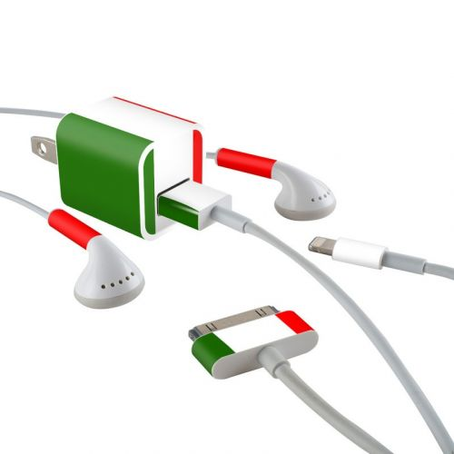 Italian Flag iPhone Earphone, Power Adapter, Cable Skin