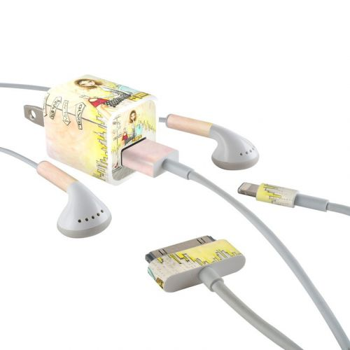 The Jet Setter iPhone Earphone, Power Adapter, Cable Skin