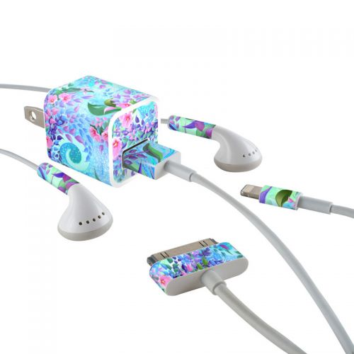 Lavender Flowers iPhone Earphone, Power Adapter, Cable Skin
