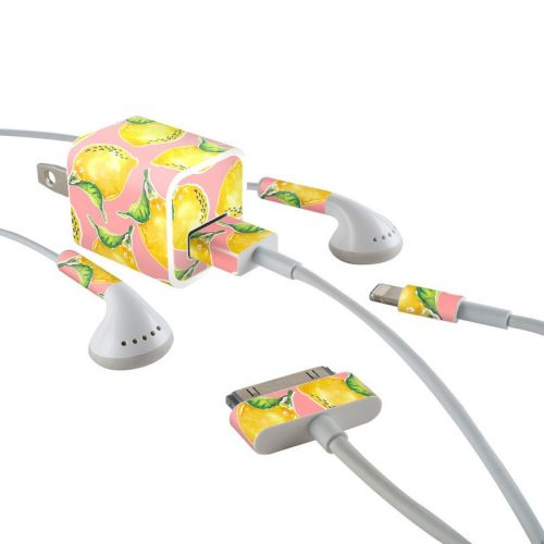 Lemon iPhone Earphone, Power Adapter, Cable Skin
