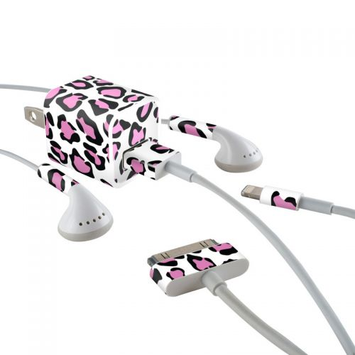 Leopard Love iPhone Earphone, Power Adapter, Cable Skin