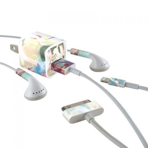 Lucidigraff iPhone Earphone, Power Adapter, Cable Skin