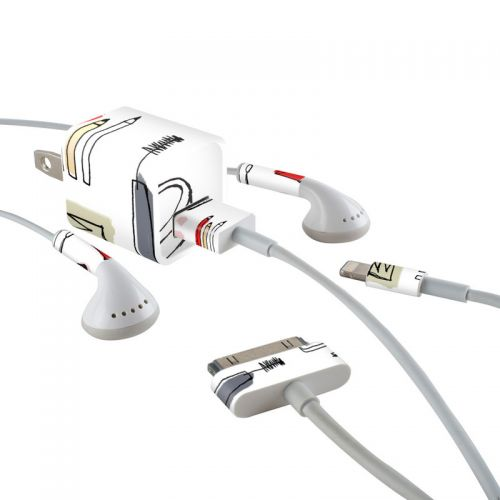 Makeup iPhone Earphone, Power Adapter, Cable Skin