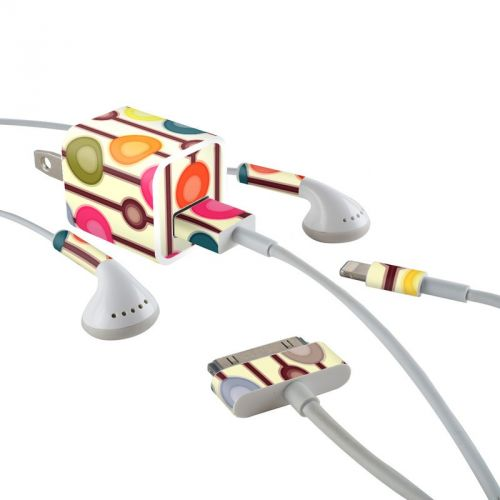Mocha Chocca iPhone Earphone, Power Adapter, Cable Skin