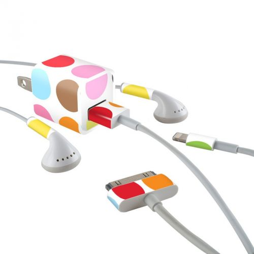 Multidot iPhone Earphone, Power Adapter, Cable Skin