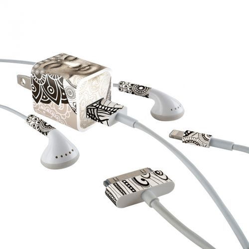 Meditation Mehndi iPhone Earphone, Power Adapter, Cable Skin