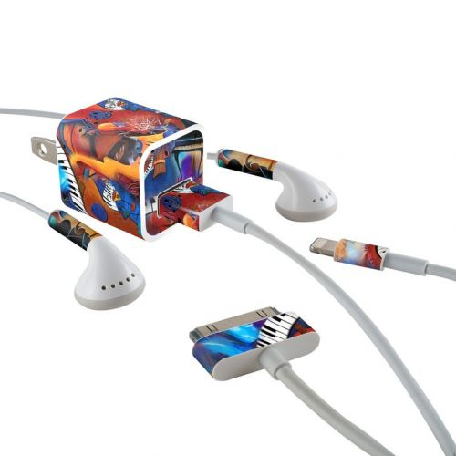 Music Madness iPhone Earphone, Power Adapter, Cable Skin