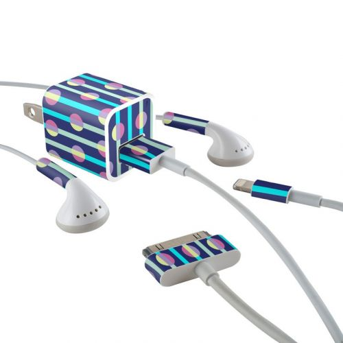 Mod Stripe iPhone Earphone, Power Adapter, Cable Skin