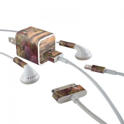 Garden at Giverny iPhone Earphone, Power Adapter, Cable Skin