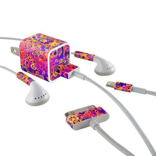 Moonlight Under the Sea iPhone Earphone, Power Adapter, Cable Skin