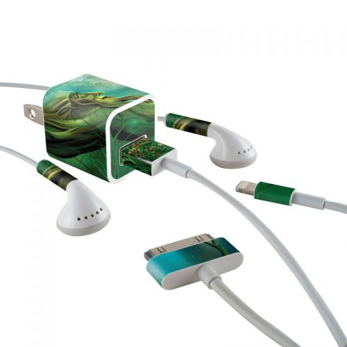 Moon Tree iPhone Earphone, Power Adapter, Cable Skin