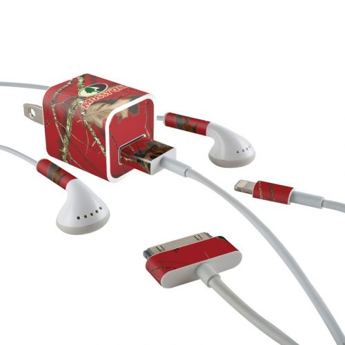 Break-Up Lifestyles Red Oak iPhone Earphone, Power Adapter, Cable Skin