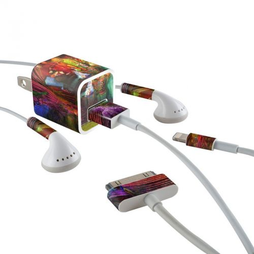 A Mad Tea Party iPhone Earphone, Power Adapter, Cable Skin