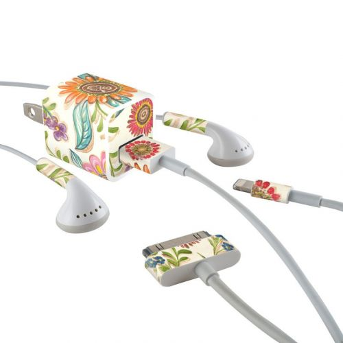 Olivia's Garden iPhone Earphone, Power Adapter, Cable Skin