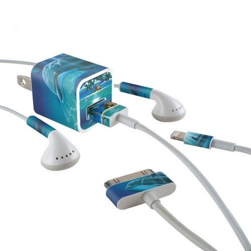 Ocean Serenity iPhone Earphone, Power Adapter, Cable Skin
