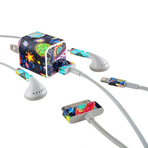 Out to Space iPhone Earphone, Power Adapter, Cable Skin
