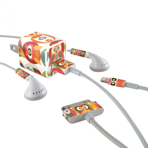 Owls Family iPhone Earphone, Power Adapter, Cable Skin