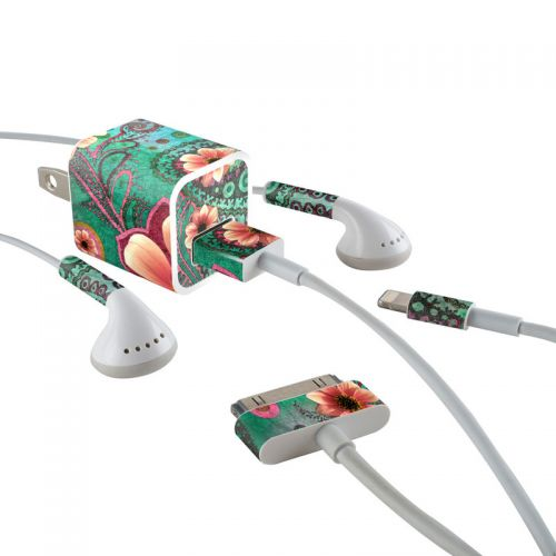 Paisley Paradise iPhone Earphone, Power Adapter, Cable Skin