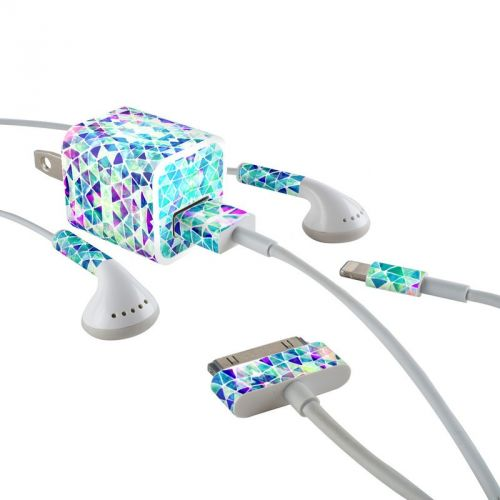 Pastel Triangle iPhone Earphone, Power Adapter, Cable Skin