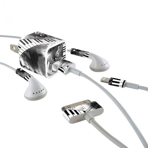Piano Pizazz iPhone Earphone, Power Adapter, Cable Skin