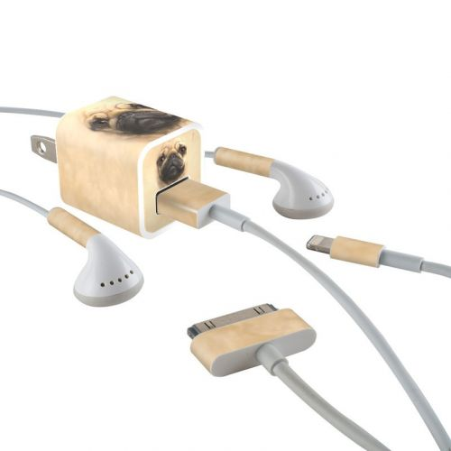 Pug iPhone Earphone, Power Adapter, Cable Skin