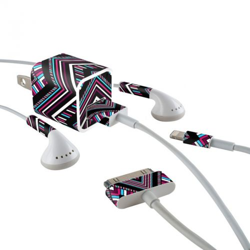 Push iPhone Earphone, Power Adapter, Cable Skin