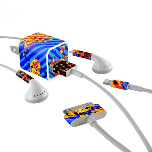 Reflux iPhone Earphone, Power Adapter, Cable Skin