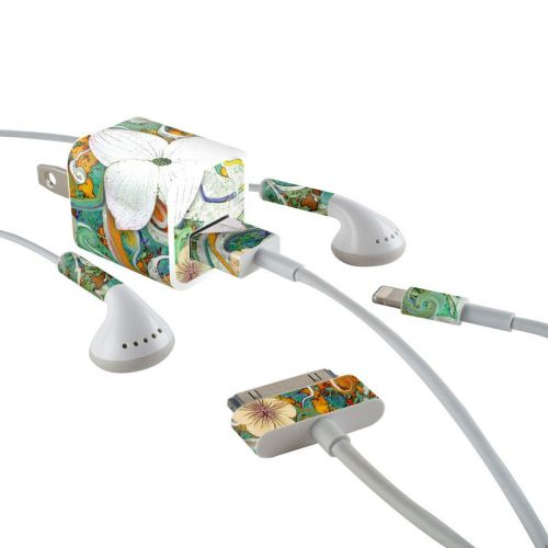 Sangria Flora iPhone Earphone, Power Adapter, Cable Skin