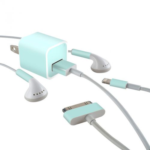Solid State Mint iPhone Earphone, Power Adapter, Cable Skin