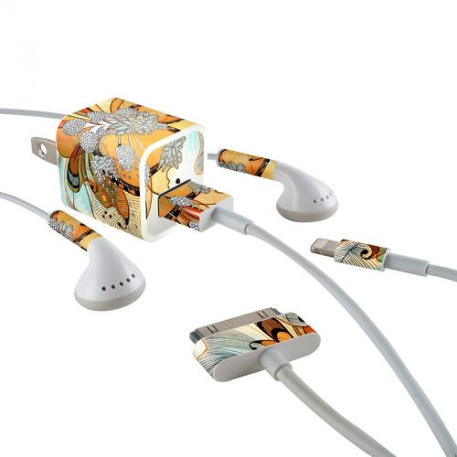 Sunset Flowers iPhone Earphone, Power Adapter, Cable Skin