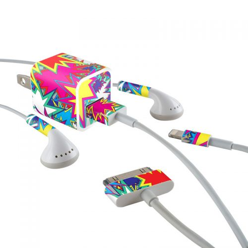 Starzz iPhone Earphone, Power Adapter, Cable Skin