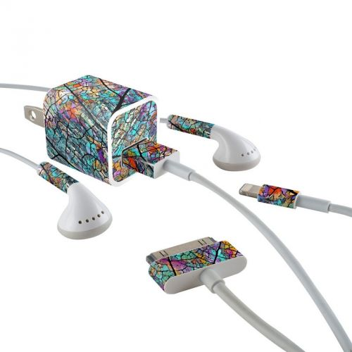 Stained Aspen iPhone Earphone, Power Adapter, Cable Skin