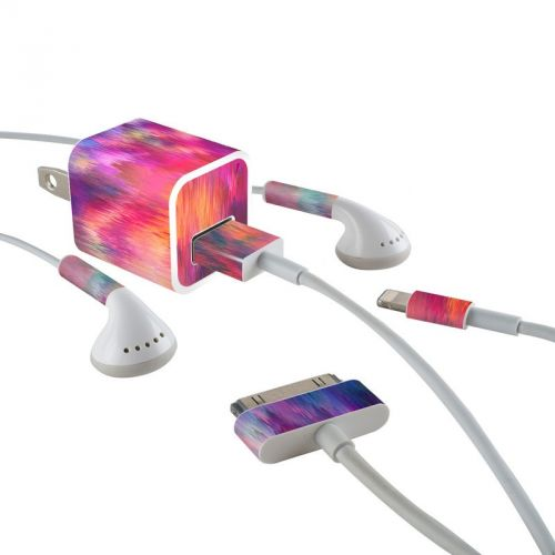Sunset Storm iPhone Earphone, Power Adapter, Cable Skin